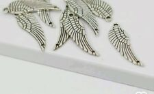 20 x Tibetan Silver Angel Wing Connector Charm 10x31mm  for Necklaces Bracelets