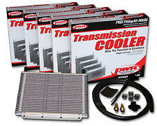 "PWR HD TRANSMISSION OIL COOLER KIT 280x255x19mm 3/8"" Barbs 30-Rows PWO5389"