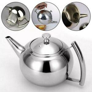2L Teekanne Teebereiter mit abnehmbare Edelstahl-Sieb Aufheizbar EdelstahlKanne