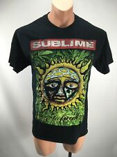 SUBLIME 90s Style Reprint 40 oz to Freedom Sun Graphic Logo NEON Black T-Shirt M