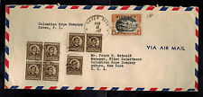 1947 Davao City Philippines Commercial Inflation Cover to USA