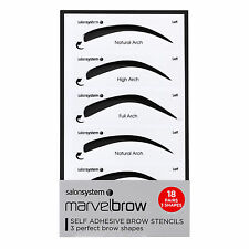Salon System Marvelbrow Self Adhesive Brow Stencils 3 Perfect Brow Shapes