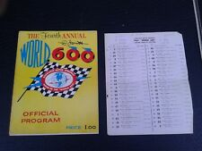 VINTAGE NASCAR 1963 4TH ANNUAL CHARLOTTE MOTOR SPEEDWAY WORLD 600 PROGRAM