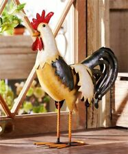 """15.8"""" Iron Standing Rooster Design Statuary"""