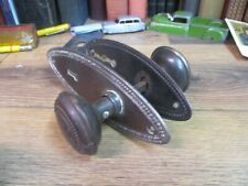 FANCY door knobs SET pair embossed EARLY 1900'S VICTORIAN vintage HARDWARE