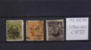 ! United States 1902-1903. Stamp. YT#152,158,154. €44.50!