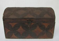 Old Box Wooden Vintage Handmade Old Iron Fitted Handcrafted Collectible 16' Inch