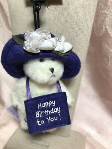 Boyds Bears Mini Plush Ornament ~ L'Il H B Bear