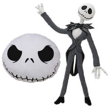 2pcs Disney The Nightmare Before Christmas Jack Skellington Plush Pillow Doll