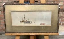 Original Seascape Watercolour By Dingwall B Yates Dated 1922