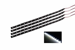 4 x12 inch Led strip Grill Car Truck Boat  Decorated Flexible LED Strip White