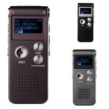 New Digital Voice Recorder 8GB Rechargeable Dictaphone MP3 Player Record