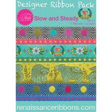 Jacquard Ribbon ~ Designer Pack Slow And Steady ~ Tula Pink Renaissance Ribbons