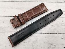Cinturini IWC Brown Opaco 20mm Marrone Chiaro Vero Coccodrillo Official Band New