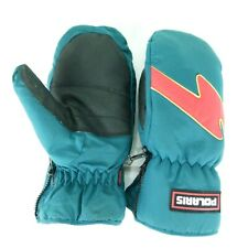 Polaris Snowmobile Mittens Cuffed Hollofil Xl Fits Like a Large Green with Red