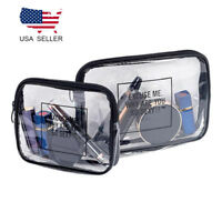 Women travel Waterproof PVC Transparent Cosmetic Bags Clear Wash Organizer Pouch
