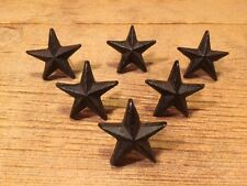 """Texas Star Nails Small Cast Iron Western 2"""" wide (Set of Six) Crafts 02111"""