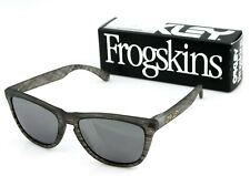 OAKLEY FROGSKINS Driftwood Collection Woodgrain Iridium Sunglasses OO 9013 B655
