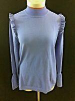 Elle long sleeve sweater Size  XL purple NEW womens NWT ruffle soft
