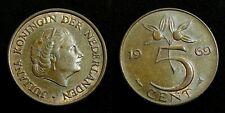Netherlands - Juliana 5 Cent 1969 (vis) vrijwel Prachtig