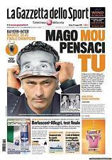 GAZZETTA DELLO SPORT 22 MAGGIO 2010 INTER MOURINHO FINALE CHAMPIONS LEAGUE
