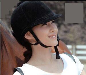 Adjustable Riding Helmet Polyester Horse Rider Equestrian Safety Skull Head Hat