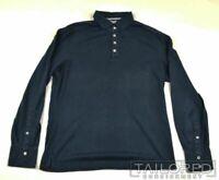 BRUNELLO CUCINELLI Solid Blue 100% Cotton Mens SLIM Casual Shirt - MEDIUM