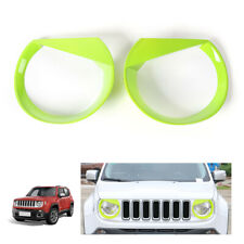 Green Angry Bird Style Bezels Front Light Headlight Trim Cover For Jeep Renegade