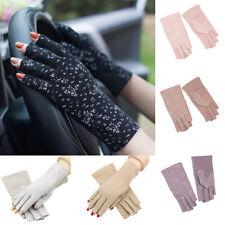 Summer Anti-UV  Sun Protection Ultra-Thin Half Finger GlovesDriving Women