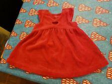 Polarn O. Pyret 1-2 Months pretty red velour dress VGC
