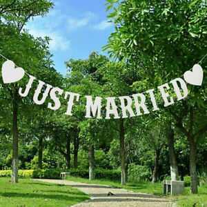 Just Married Wedding Bunting - Mr and Mrs Party Foil Banner Decorations Banners