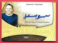 2015-16 Johnny Bower Leaf Ultimate Time Capsules Auto 1/3 - Toronto Maple Leafs