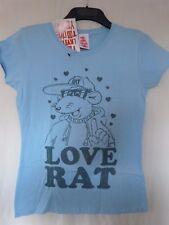 ***Roland Rat Love Rat New Official Ladies Skinny T-Shirt Size 14-BNWT-£6.99***