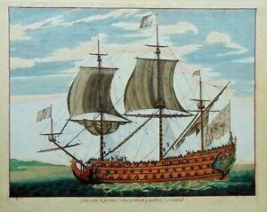 Jan van Vianen , Vaisseau du Premier rang portant pavillon d'Admiral, 1694.
