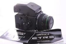 BRONICA ETRS c/w PE 75mm F2.8 AE-ii Prism 120 back GREAT CONDITION
