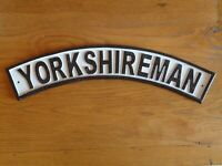 YORKSHIREMAN Steam Train Cast Iron Plaque Metal Sign Railway Yorkshire Rail