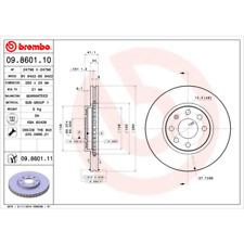 Bremsscheibe (2 Stück) COATED DISC LINE - Brembo 09.8601.11