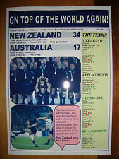 New Zealand 34 Australia 17 - 2015 Rugby World Cup final - souvenir print