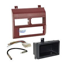 Car Radio Stereo Red Dash Kit Harness Antenna for 1988-1994 Chevy GMC Trucks