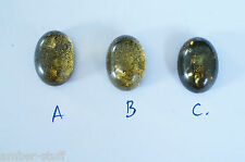 Baltic amber large cabochon 18mm x 13mm mm oval green colour doublet natural