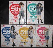 K-ON! Figure 5th anniversary Ver. set Yui, Mio, Ritsu, Tsumugi, Azusa