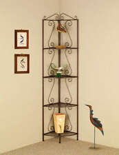 Copper Metal Finish Corner Shelf with Decorative Scrolls by Coaster 910035