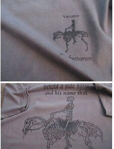 Navy SEALS DEVGRU TACDEVRON SILVER SQUADRON Pale Rider Gray T-Shirt MEDIUM