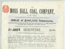 More details for moss hall coal company debentures 1899 mining pearson and knowles coal and iron