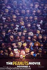 SNOOPY and CHARLIE BROWN The PEANUTS MOVIE POSTER ORIGINAL SS 27x40