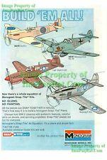 Mustang, Spitfire, Tiger Shark P-40F: 1976 Model Ad!