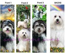 3 Lot-HAVANESE BOOKMARKS Black & White DOG Book Mark Card ART Ornament shih tzu