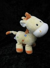Carters Just One Year Yellow Spotted Spots Giraffe Plush Rattle 8""
