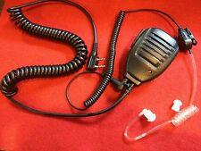 SPEAKER MIC & CLEAR SECURITY STYLE HEADSET FOR BAOFENG KENWOOD WOUXUN LINTON
