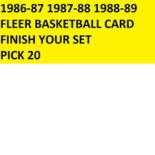 1986-1987-88 1988-89 Fleer Basketball Cards +Stickers Finish Your Set PICK 20